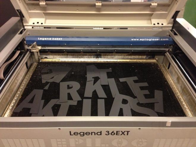Laserskurna bokstäver